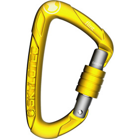 Skylotec Flint Screw Carabiner With screw cap, yellow